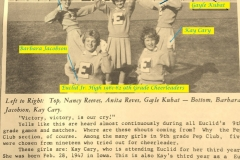 1961-62 Euclid Cheerleaders